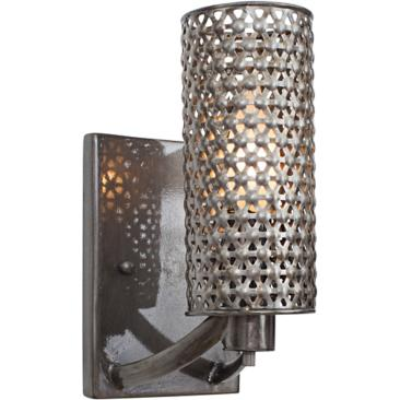 "Varaluz Casablanca 9 1/2"" High Recycled Steel Wall Sconce"