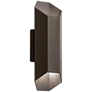 "Kichler Estella 16 1/2""H Bronze LED Outdoor Wall Light"