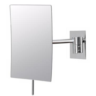 "Aptations Chrome Minimalist 5"" x 8"" Rectangular Wall Mirror"