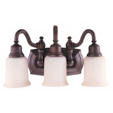 "Canterbury 19""W Oil-Rubbed Bronze 3-Light Bathroom Light"