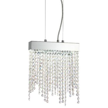 "Eurofase Rossi 9 3/4""W Chrome and Crystal LED Mini Pendant"