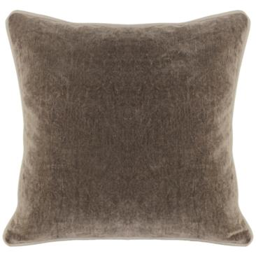 "Grandeur Desert 18"" Square Cotton Velvet Accent Pillow"