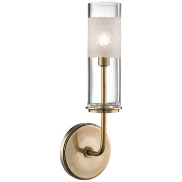 "Hudson Valley Wentworth 14 1/4"" High Aged Brass Wall Sconce"