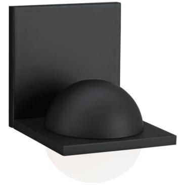 """LBL Sphere 6 3/4""""H Rubberized Black Frost LED Wall Sconce"""