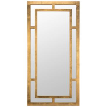 "Benedict Gold 20"" x 40"" Rectangle Wall Mirror"