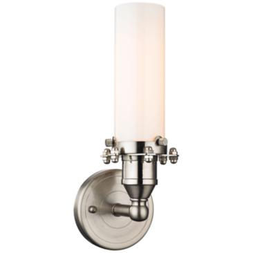 "Fulton 12"" High Satin Nickel 1-Light Wall Sconce"