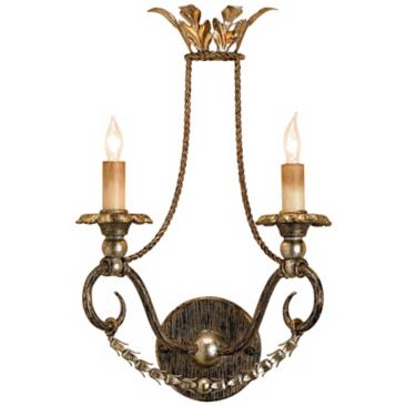 "Currey and Company Anise 17"" High Plug-In Wall Sconce"