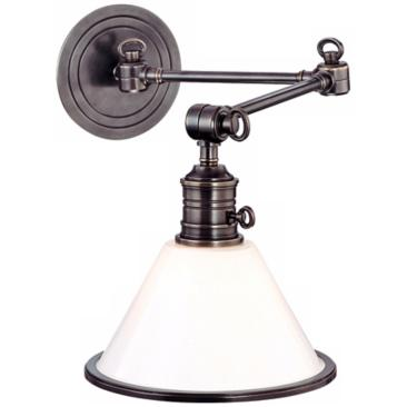 Garden City Old Bronze Swing Arm Wall Light