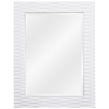 "Tranquility Gloss White 30"" x 39"" Wall Mirror"