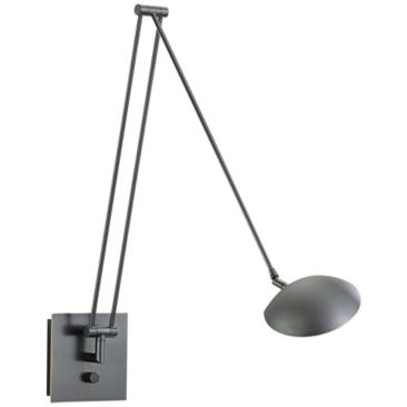 "Holtkoetter Bernie 49"" Turbo Bronze LED Swing Arm Wall Lamp"