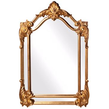 "Howard Elliott Cortland Gold 32"" x 47"" Wall Mirror"