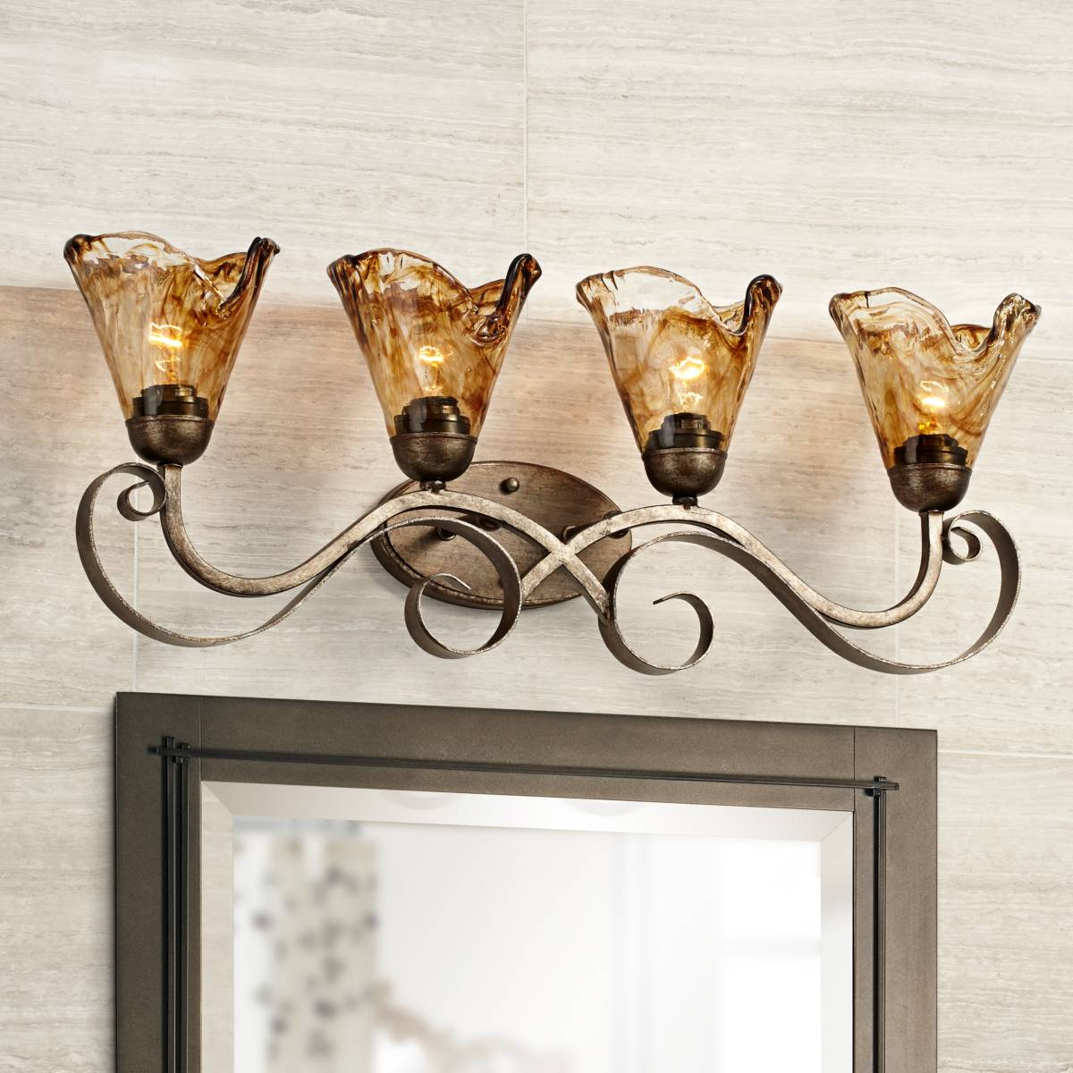 Bronze Bathroom Lighting Lamps Plus Canada