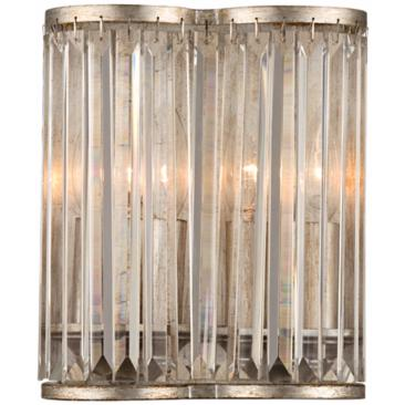 "Soft Silver 10"" High Crystal Wall Sconce"