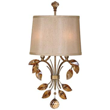 "Uttermost Alenya 21"" Wide Burnished Gold Wall Sconce"