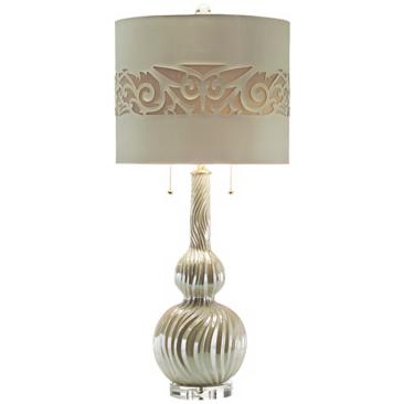 John Richard Swirled Ceramic Table Lamp