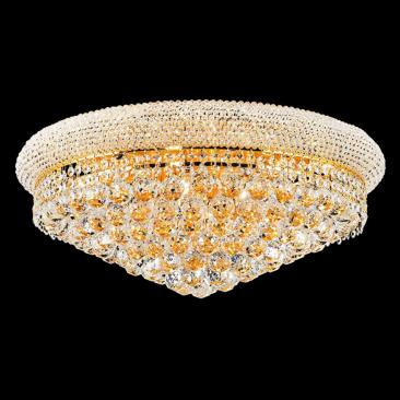 "Primo 24"" Wide 12-Light Gold Cut Crystal Ceiling Light"