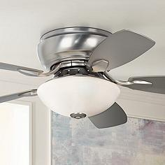 Hugger ceiling fans flush mount fan designs lamps plus 44 casa habitat brushed steel hugger ceiling fan mozeypictures Gallery