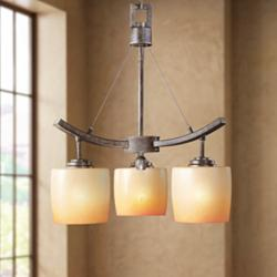 "Raiden Collection Three Light 17"" Wide Chandelier"