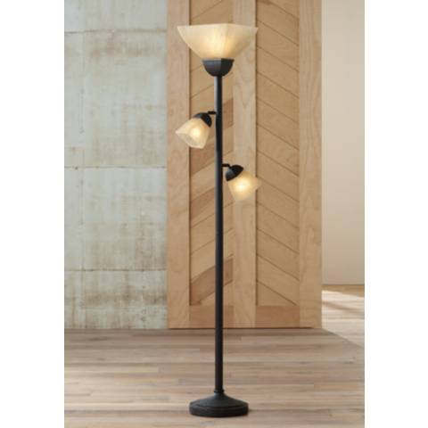 Champagne Glass Torchiere Floor Lamp 01882 Lamps Plus