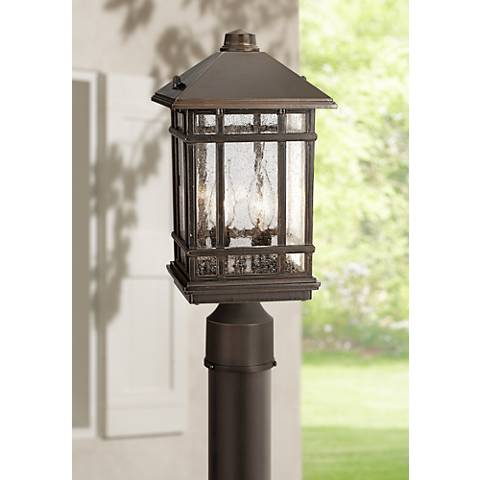 "J du J Sierra Craftsman 14"" High Outdoor Post Mount Light"