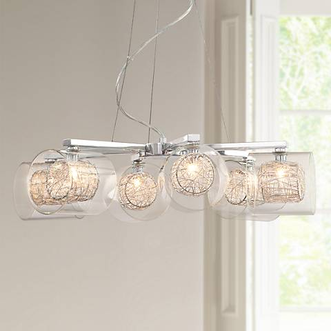 Possini euro design wire and glass cylinder chandelier 04030 possini euro design wire and glass cylinder chandelier aloadofball Choice Image