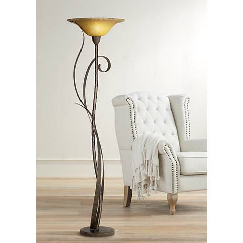 Kathy Ireland Vine Torchiere Floor Lamp