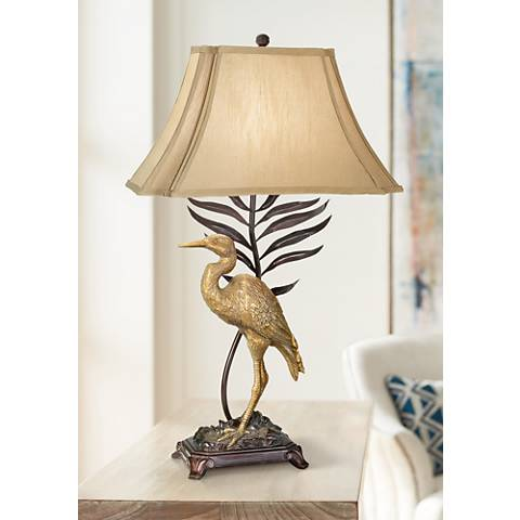 "Whispering Palms 33"" High Table Lamp by Kathy Ireland"