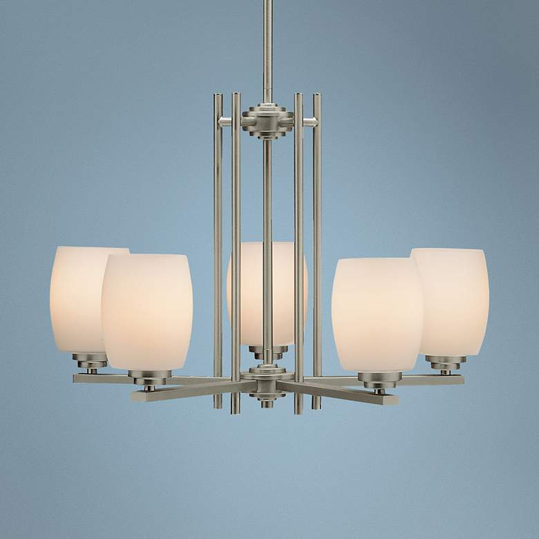 "Kichler Sabina 24"" Wide Brushed Nickel Five Light"