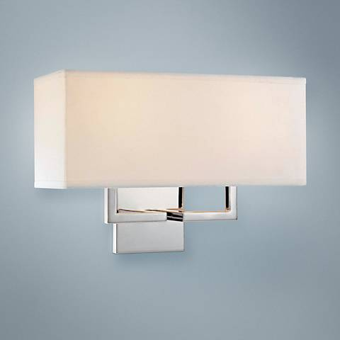 "George Kovacs Rectangle Chrome 11"" High Wall Sconce"