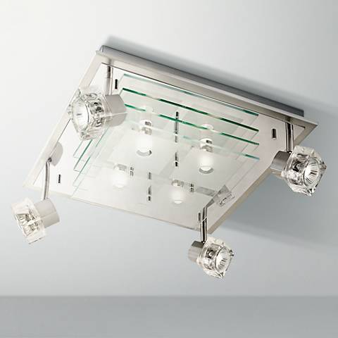 "Orion Spotlight Eight Light Square 16"" Wide Ceiling Fixture"