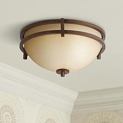 "Oak Valley Collection 15"" Wide Scavo Glass Ceiling Light"