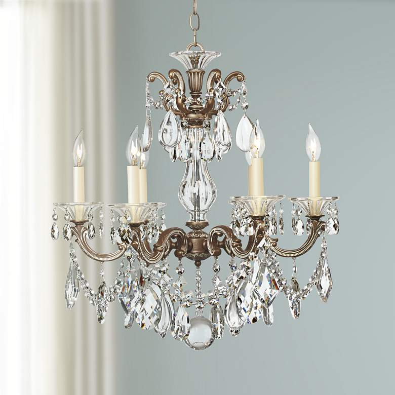 "Schonbek La Scala 23"" Wide Six-Light Crystal Chandelier"