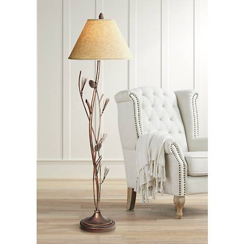 Pine Cone Iron Floor Lamp by Cal Lighting