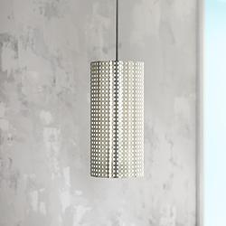 "George Kovacs Grid Collection 6""W Perforated Mini Pendant"