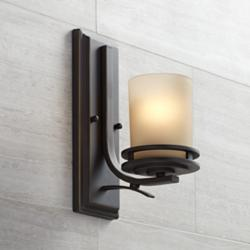 "Hendrik Bronze 12"" High Wall Sconce"