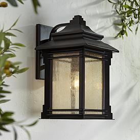 Hickory Point 16 High Bronze Outdoor Wall Light