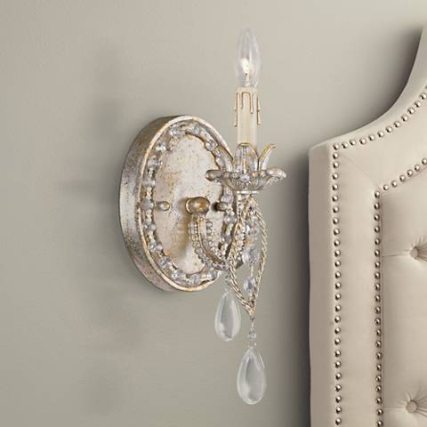 "Tatiana 11"" High Silver and Gold Wall Sconce"