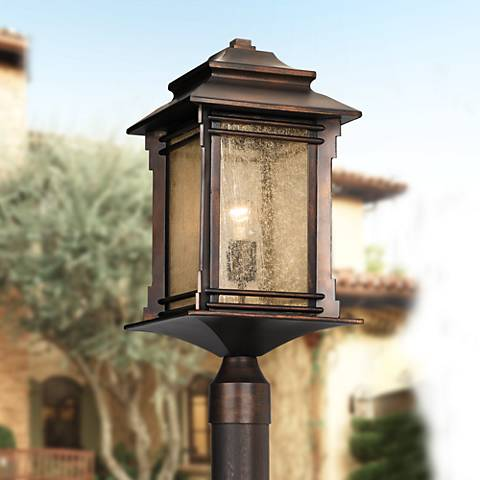 "Franklin Iron Works™ Hickory Point 21 1/2"" High Post Light"