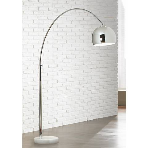 George kovacs polished chrome arc floor lamp 10783 lamps plus aloadofball Image collections
