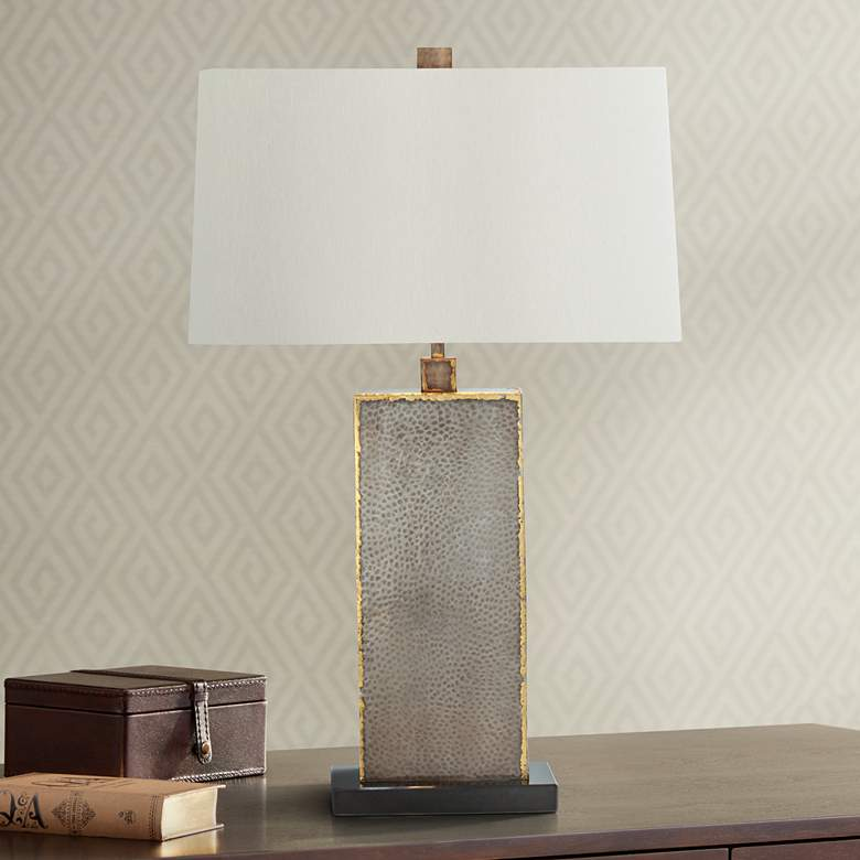 Arteriors Home Graham Reptile Skin Iron Table Lamp