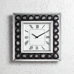 "Delria Agate 21"" Square Wall Clock"