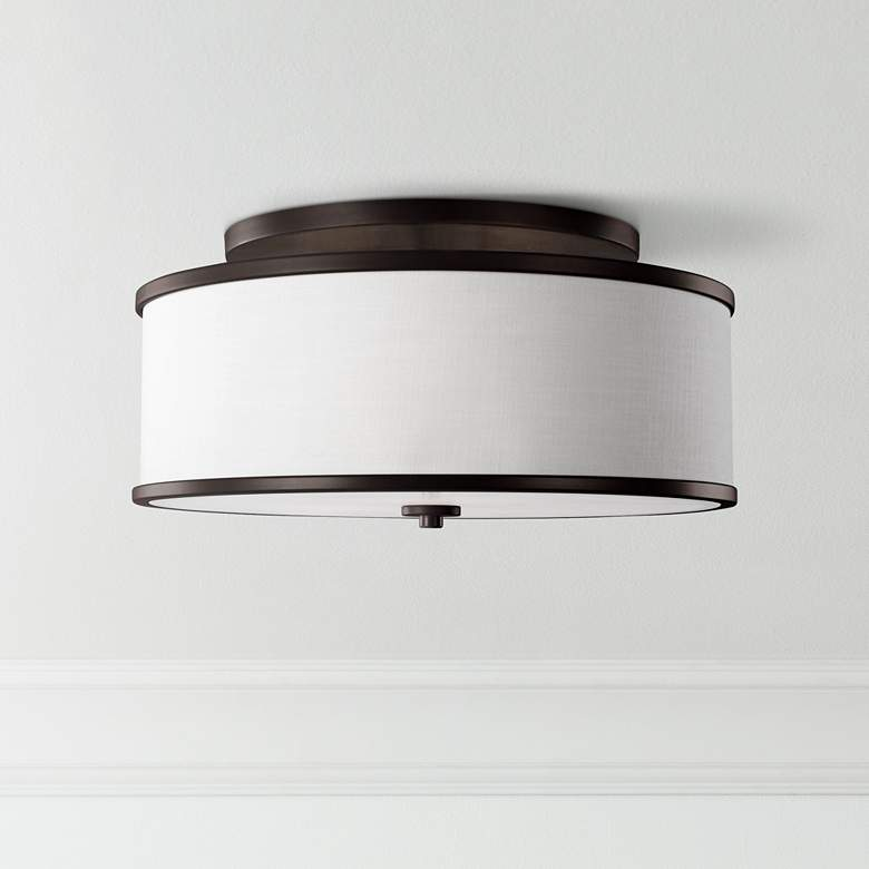 "Feiss Lennon 20"" Wide Oil Rubbed Bronze Ceiling"