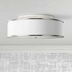 "Feiss Lennon 30 1/4"" Wide Satin Nickel Ceiling Light"