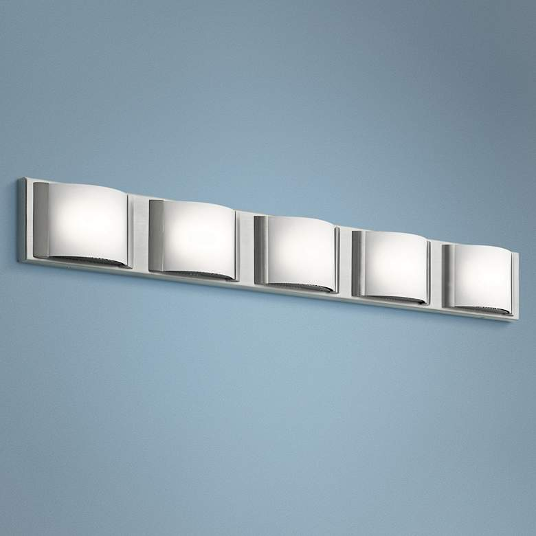 "Elan Bretto 37 1/4"" Wide Brushed Nickel LED"