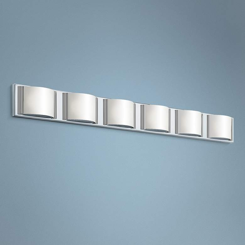 "Elan Bretto 44 3/4"" Wide Chrome LED Bath Light"