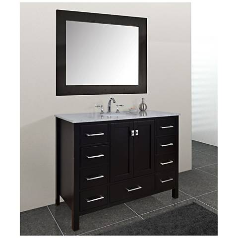 "Malibu 48"" Espresso Single Sink Bathroom Vanity"