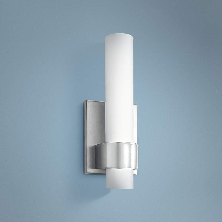 "Elan Izza™ 13""H Brushed Nickel LED Wall Sconce"