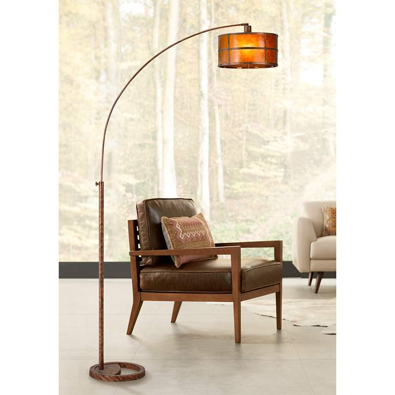 Fidrych Mica Shade 1-Arm Heavy-Duty Arc Floor Lamp