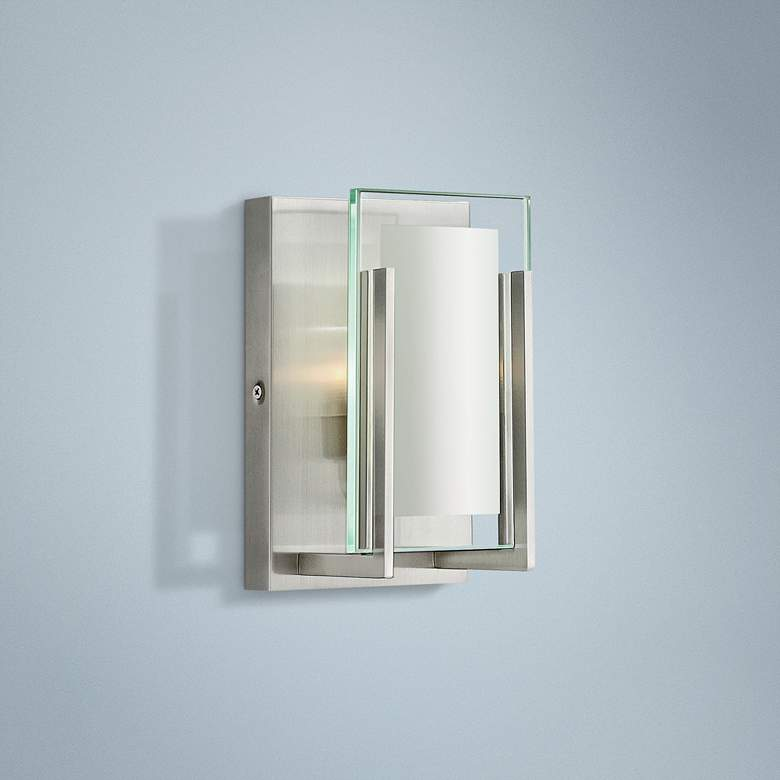 "Hinkley Latitude 8"" High Brushed Nickel LED Wall Sconce"