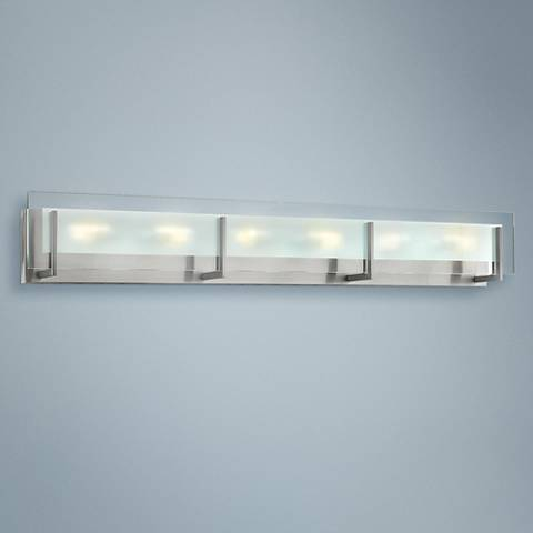 "Hinkley Latitude 37 1/2"" Wide Chrome 6-Light LED Bath Light"